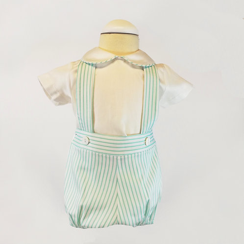 Stripe baby boy outfit
