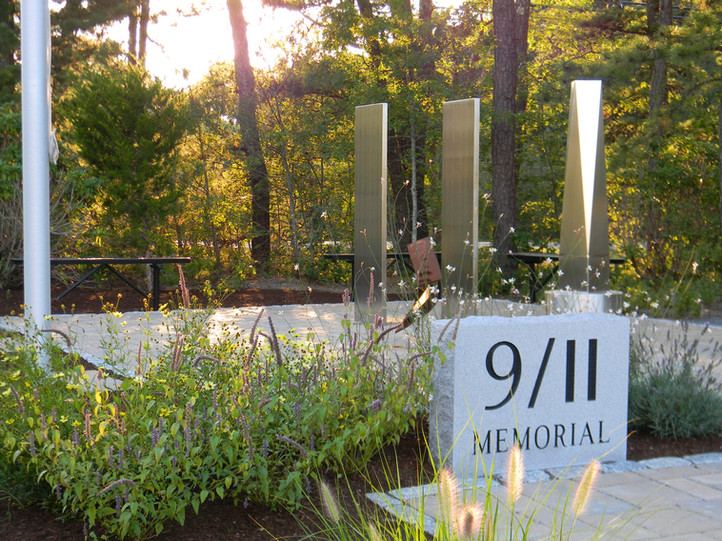 9/11 Memorial park at Yarmouth Police Headquarters