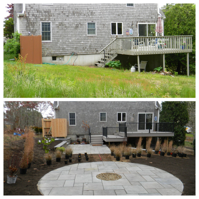 Before and After: Dangerous deck and unusable back yard transformed!