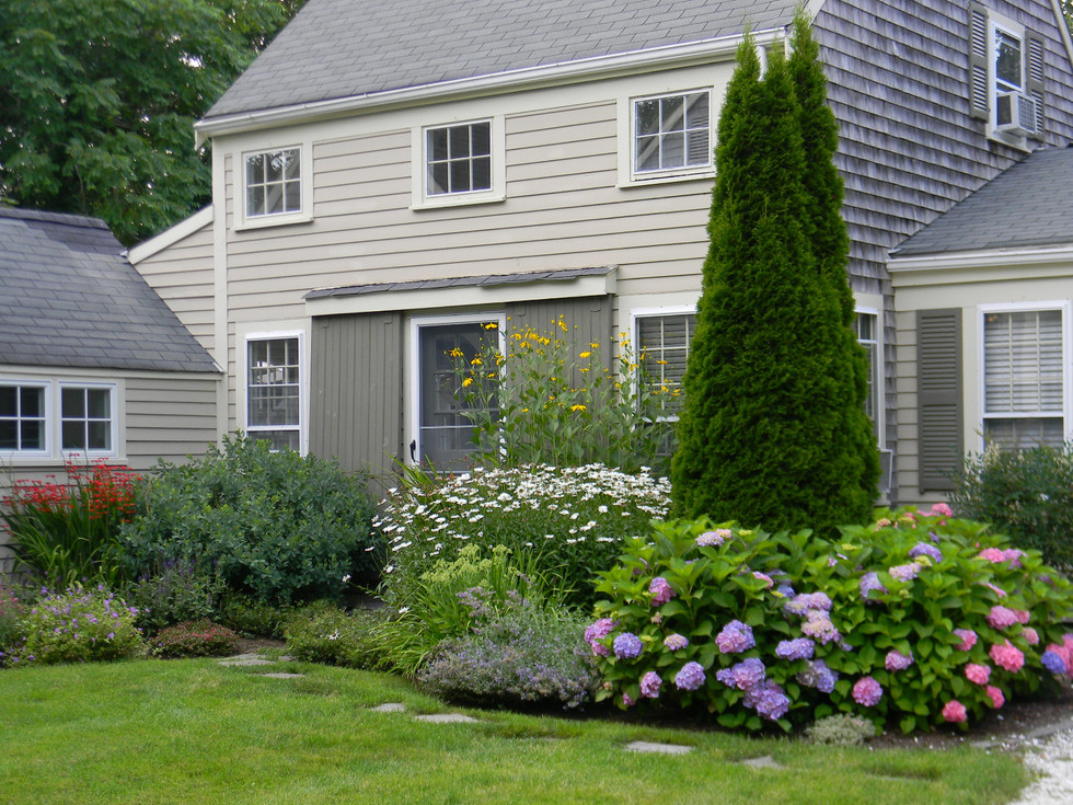 After: An old Cape Cod house with a new garden