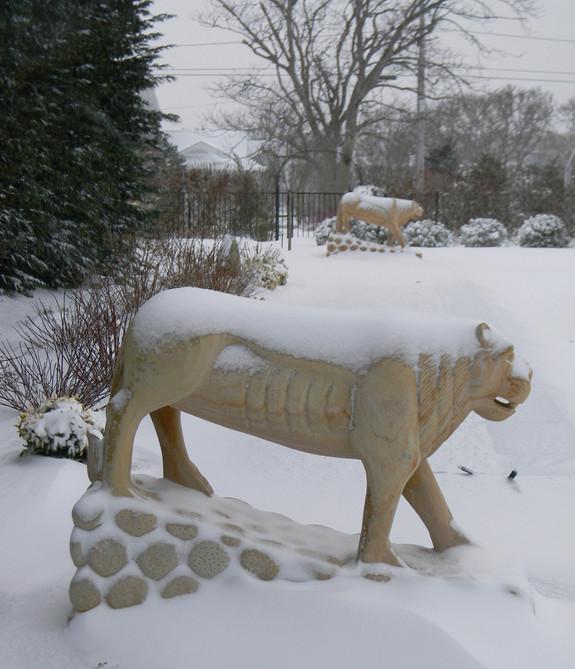 Stone lioness