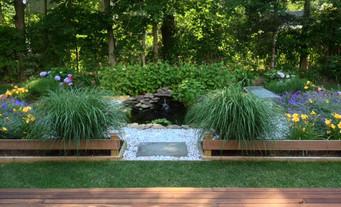 After: Fish pond garden