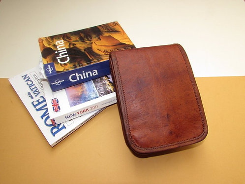 Small Leather Plain Front Shoulder Bag - Rectangle