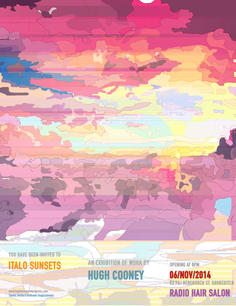 Italo Sunsets poster Hugh Cooney Radio H