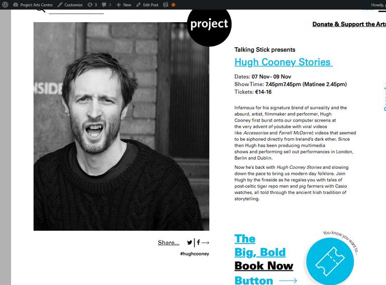 Hugh Cooney Stories   Project Arts Centr