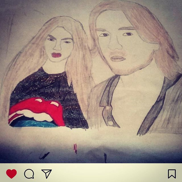 Such a thoughtful and lovely💕 drawing b