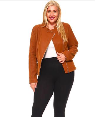 Plus Size Caramel Jacket