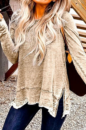 Yellow Long Sleeve with Slit