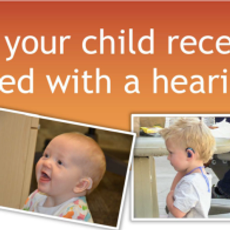 Research Opportunity:  for babies age birth – 42 months who wear hearing aids . . . .