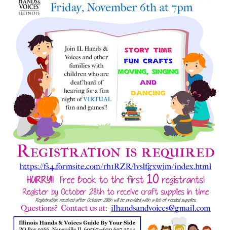 VIRTUAL Family Fun Event - Friday November 6th at 7pm