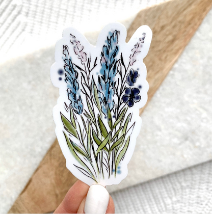 Watercolor Floral Stems Sticker