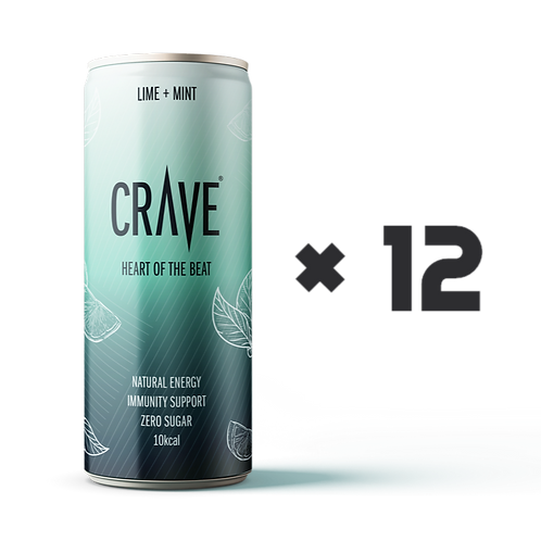 Crave® Natural Energy Lime + Mint (12 pack)