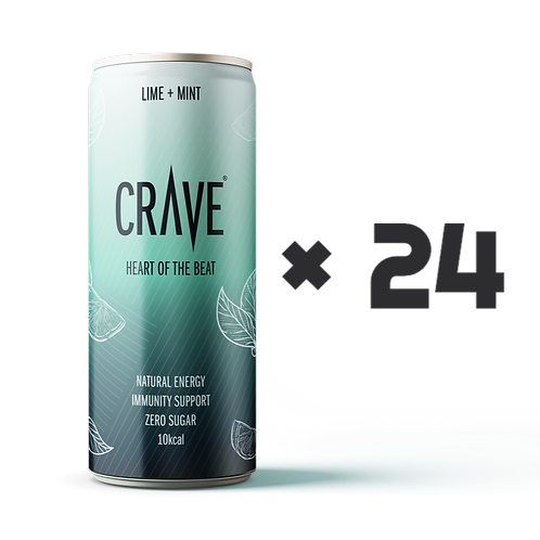 Crave® Natural Energy Lime + Mint (24 pack)