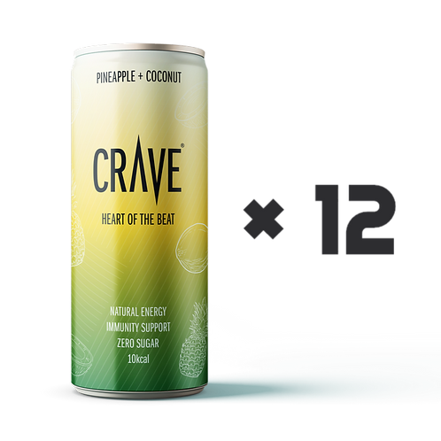 Crave® Natural Energy Pineapple + Coconut (12 pack)