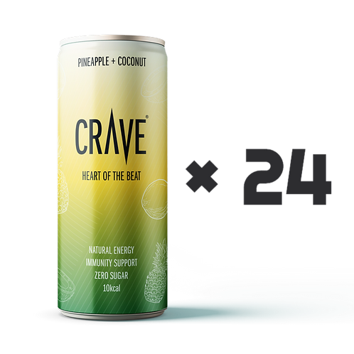 Crave® Natural Energy Pineapple + Coconut (24 pack)