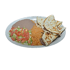 #20 Fajita Beef or Chicken Quesadilla Plate