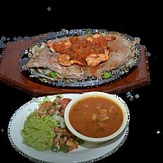 #40 Sirloin Ranchero & Jumbo Shrimp Platter
