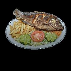 #33 Fried Tilapia Plate
