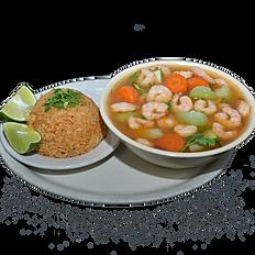 #38 Large Shrimp Soup