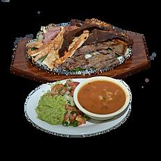 #41 Sausage, Mixed fajitas & Beef ribs platter