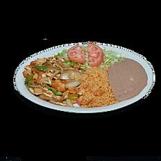 #7 Fajita Chicken Plate