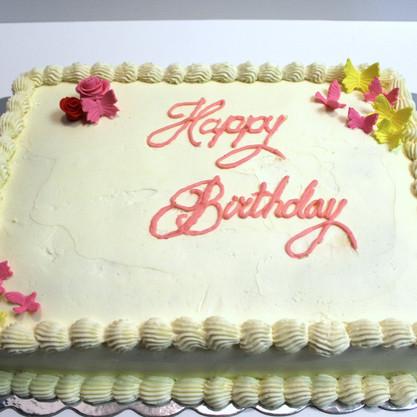 Happy Birthday Slab Cake