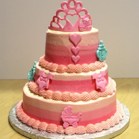 Princess Baby Girl Cake