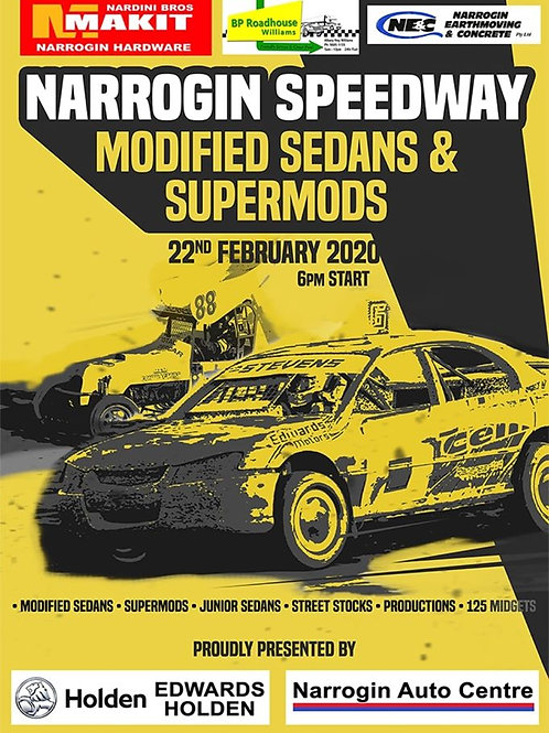 Narrogin speedway modified sedans and supermods country round - DVD
