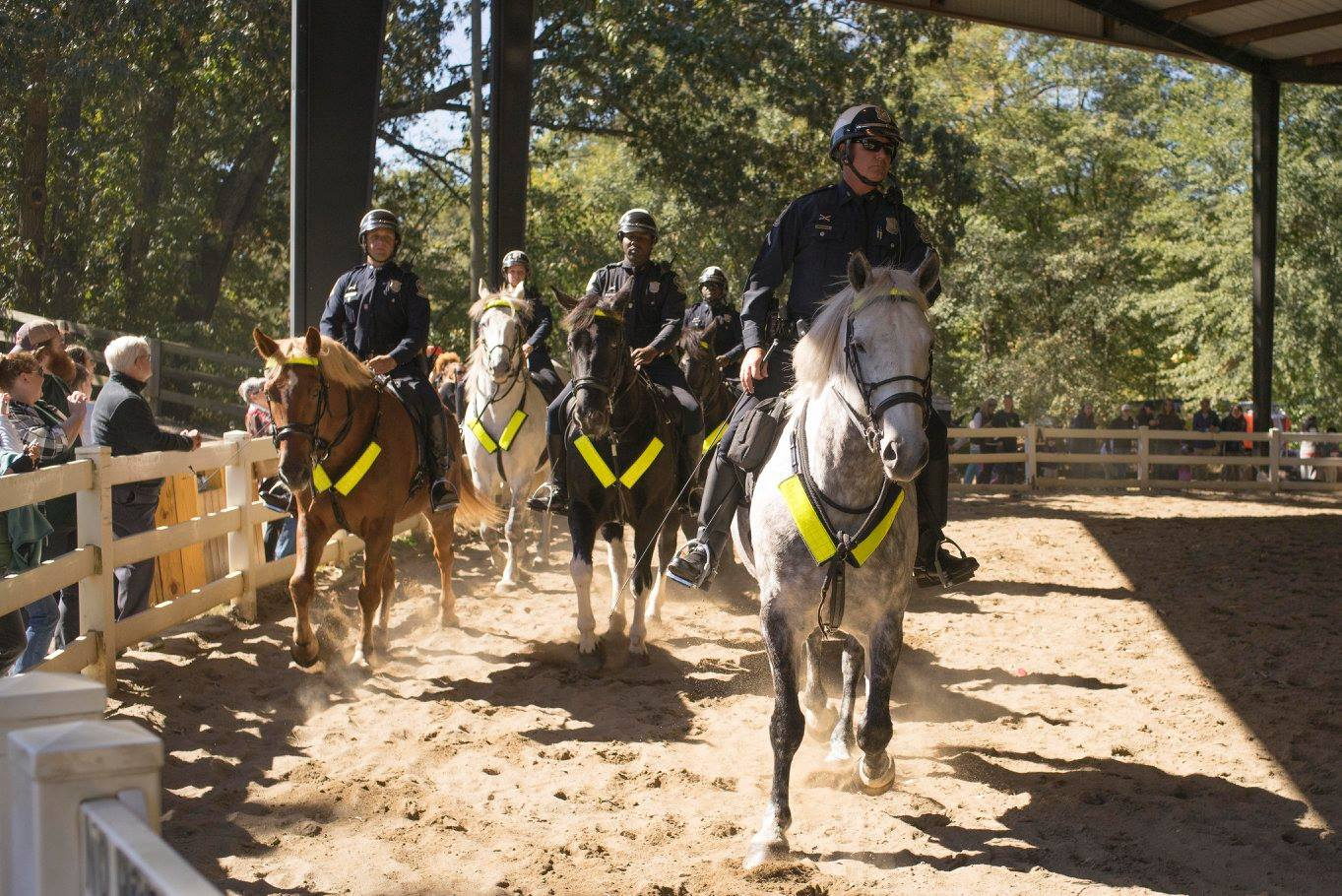 Mounted Atlanta Police demonstration