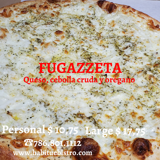 FUGAZZETA We introduce Fugazzeta our Argentinian pizza style. A perfect combination of mozzarella ch