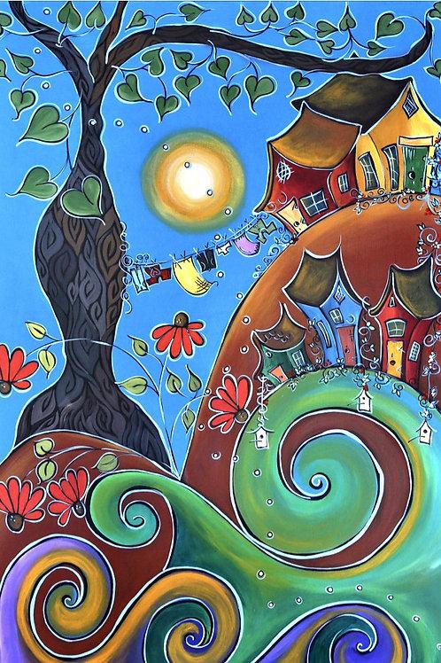 Carte de souhait : Grands ou petits, les bonheurs font leurs nids ici