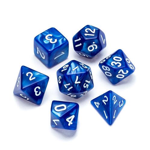 Pearl Series: Blue - Numbers: White