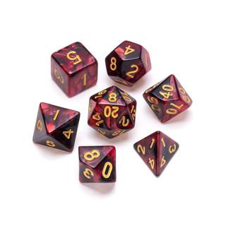 Marble Series Dice: Red & Black - Number