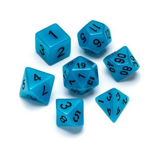 Flourescent Series Dice: Blue - Numbers: Black