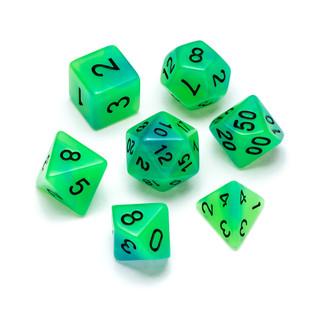 Flourescent Series Dice: Green & Blue - Numbers: Black