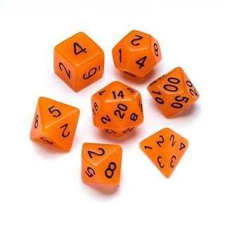 Flourescent Series Dice: Orange - Numbers: Black
