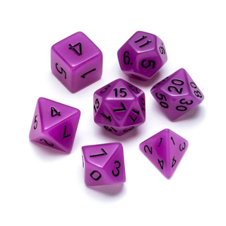 Flourescent Series Dice: Purple - Numbers: Black