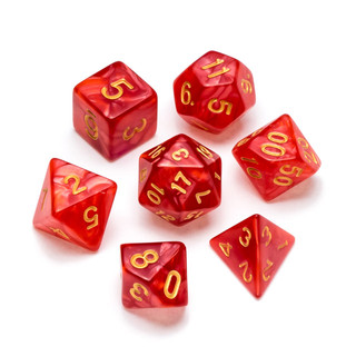 Pearl Series Dice_ Red - Numbers_ Gold.j