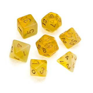 Nebula Series Dice: Yellow - Numbers: Go