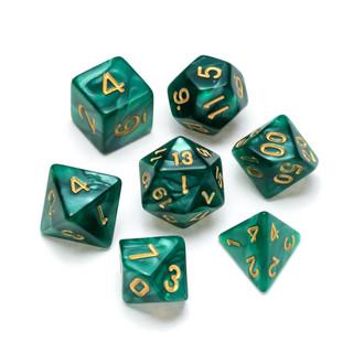 Pearl Series Dice_ Dark Green - Numbers_