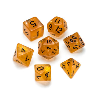 Glitter Series Dice: Gold - Numbers: Black