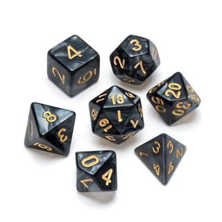 Pearl Series Dice_ Black - Numbers_ Gold