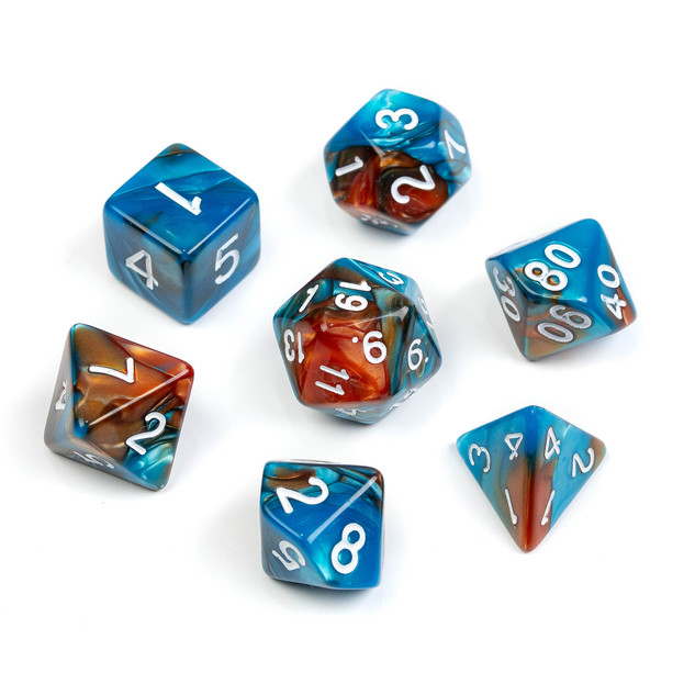Marble Series Dice_ Blue & Brown_Numbers