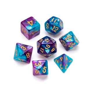 Marble Series Dice: Pale Blue & Purple -