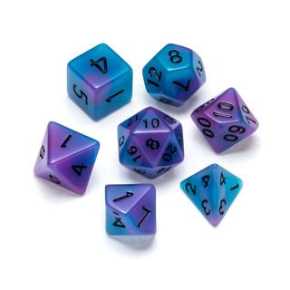 Flourescent Series Dice: Blue & Purple - Numbers: Black