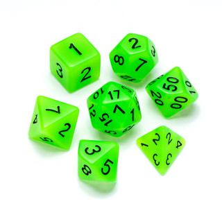 Flourescent Series Dice: Green - Numbers: Black