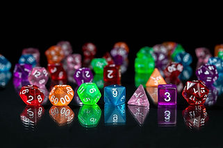 Transparent Acrylic Dice