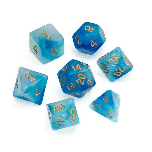 Nebula Series: Blue - Numbers: Gold