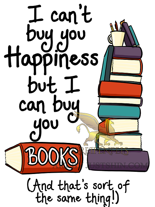 Greeting card: Books happiness