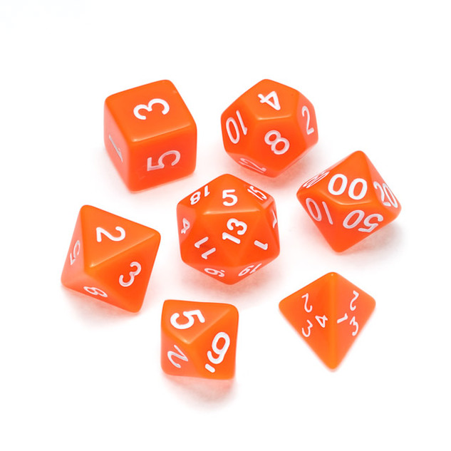 Opaque Series Dice: Orange - Numbers: Wh